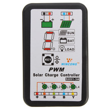 3A 6V 12V PWM Solar Panel Light Controller Battery Charge Regulator for Solar Panel System Intelligent Solar Charger Controller