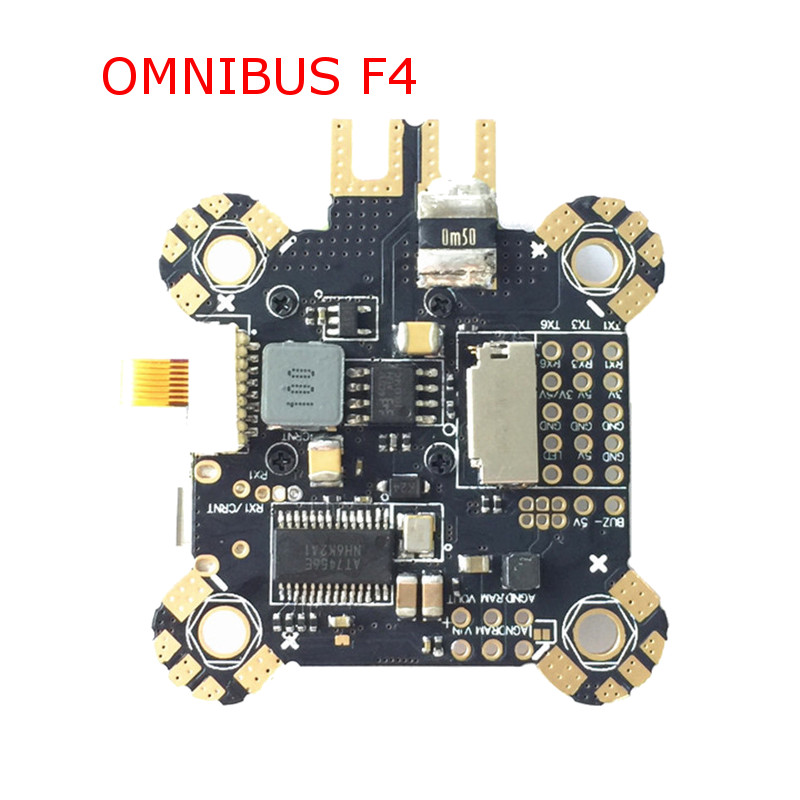 Omnibus F4 Pro Corner F4 Flight Controller AIO OSD PDB BEC Current Sensor MPU6000 IMU Version VS Matek F405-OSD BetaFlight<br>