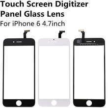 New Black White Touch Screen Digitizer Panel Display Front Glass Lens for iPhone 6 4.7 inch Cheap Replacement Parts Repair Part