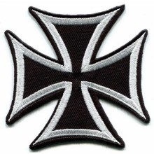 3 inches German Cross Military Medal WW2 War Biker Custom Iron on/Sew on/Vecro on Applique Embroidery Patches(China)