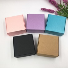 Free Shipping Newly 6.5*6.5*3cm secondary colours Aircraft Cardboard Pack Boxes 50Pcs/ Lot Smart Little Sized For Handmade Soap(China)