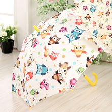 High Quality New Children's Umbrella Automatic Umbrellas Cute Carton Pattern Umbrella Long-handle Rainproof Umbrellas For Kids