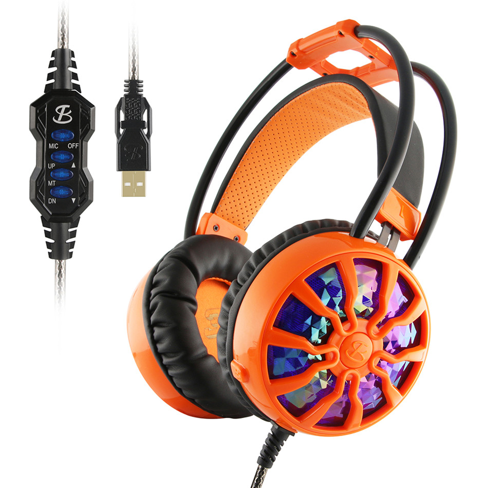 NiUB5 Strong bass Wired Gaming Headset 3D Stereo Headphones Shock Music 7.1 Surround Wired Microphone For PC Movies Games<br>