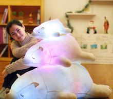 Promotion Luminous 45CM White Bear Colorful Change Stuffed Animals Cute Soft  Led Light Polar Bear Plush Toy Girls Birthday Gift