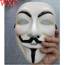 Cosplay Guy Fawkes V For Vendetta Mask Halloween Fancy Dress Costume Resin Masks Venetian Carnival Anonymous Scary Mask WXC