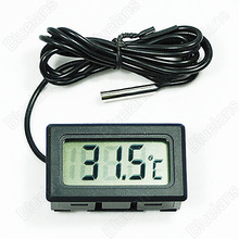 New Mini Aquarium LCD Display Digital Thermometer Fish Tank Water Household Refrigerstor Thermometers 01IJ 3T8T