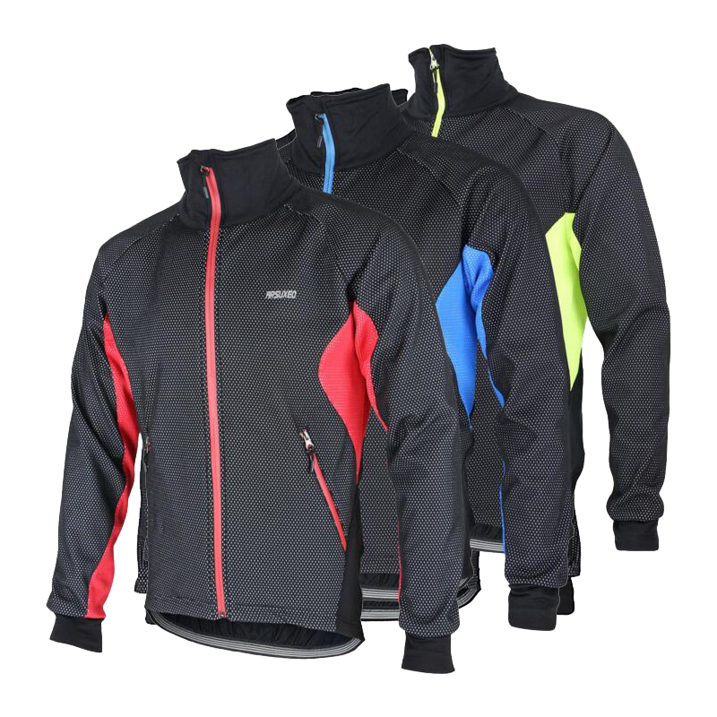 Windproof Men Cycling Jacket Bike Racing Winter Fleece Cycling Jersey Warm Cycling Clothes Ciclismo Jersey 3 Colors<br>