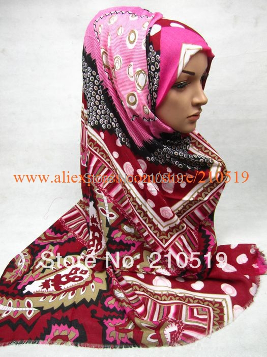 FBD003 Hot sale rayon big size 180*95cm ladies' scarf, Pashmina,fashion shawl,long muslim scarf