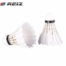 REIZ Badminton Shuttlecocks 6Pcs and 3Pcs/set Indoor Outdoor Sport Training Badminton Ball Natural White Duck Feather Z200/Z300(China)