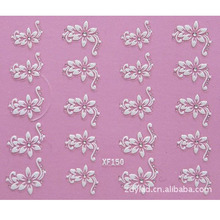3D DIY flower design Water Transfer Nails Art Sticker decals lady women manicure tools Nail Wraps Decals wholesale(China)