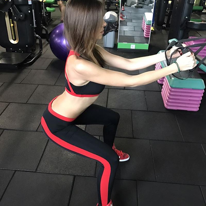 New 2017 Women Peach Heart Pattern Fitness Leggings