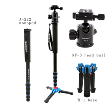 Manbily 165cm Portable Professional A222 Aluminum Camera Tripod Monopod with M1 Stand base&ball head for Canon Nikon Sony camera