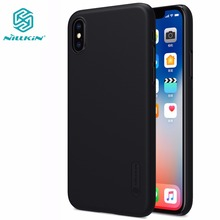 SFor Apple iphone X case NILLKIN Super Frosted Shield matte back cover iphoneX iphone X case +screen protector Retail package(China)