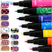 3pcs/Set Double-headed Salon Quality Nail Varnish Art Pens Tool 2017 New Nail Dotting Drawing Pen Beauty Girl M22X20