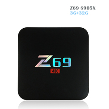 2017 Newest Z69 Android 7.1 TV Box Amlogic S905X Quad Core CPU 3GB DDR3 +32GB ROM Wifi 2.4GHz Bluetooth Media Player PK H96 PRO+