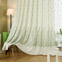 2017 Willow Linen Velvet Curtains Korean Garden Room Floor Curtain Fabric E