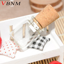 VBNM 2017 new arrive floating bottle pendrive  4GB 8GB 16GB 32GB wish bottles usb flash memory Stick flash drive cartoon gift