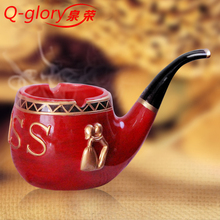 Portable Cigar Ashtray Smokeless Tobacco kaloud Pipe Resin Car Ashtray Smoking Accessories Portable hookah1530B(China)