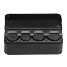 1Pc Auto Car Portable Plastic Coin Holder Change Storage Box Case Container Holder Black