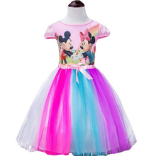 Fashion Kids Clothes Cartoon Hello Kitty Casual dresses for girls toddler children baby girl princess dress vestidos infantis(China)