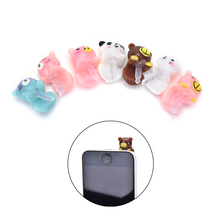 Cute bears cat Dust Plug Phone Anti Dust 3.5mm Universal Phone Dust Plug for HTC Samusng iPhone Headphone jack Dustproof Plug
