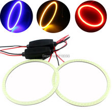 2Pieces(1pair) Auto Halo Rings COB 70MM Angel Eye 12V 24V Headlight 60 SMD Car Angel Eyes Motorcycle 9-30V White Red Yellow Blue(China)