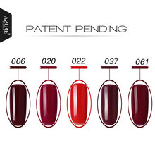 Azure Fashion Colorful UV Gel Nail Polish 12ml Grey Series UV Gel Wine Red Series Soak-off UV Gel Polish Lacquer For Halloween
