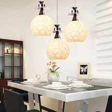 Modern three heads LED Pendant Lamp Creative hanglamp glas Style Restaurant chandelier lighting for home lighting Fixtures(China)