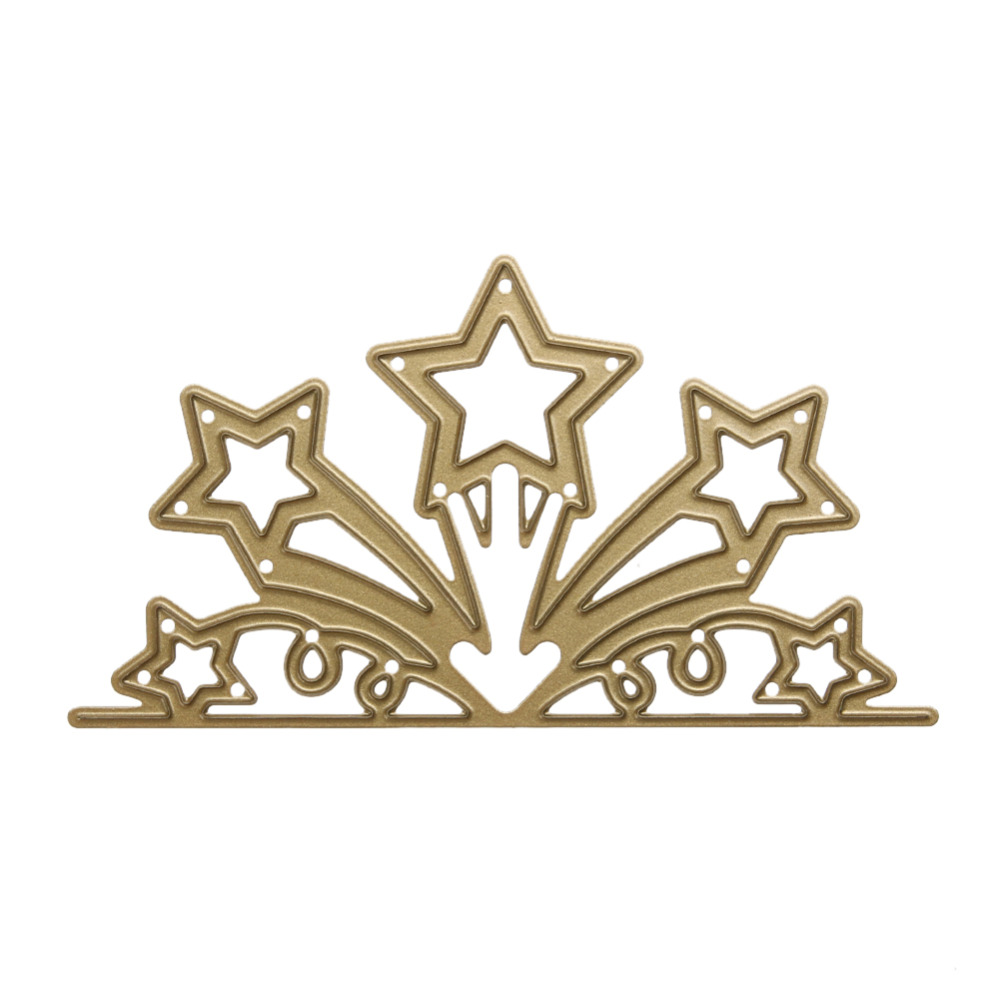 Golden Star Flower Branch Metal Embossing Cutting Dies Stencils DIY Scrapbooking Photo Album Paper Cards Decorative Craft Dies