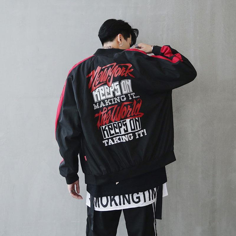 Bomber Jacket Men Pilot Printed Streetwear  (3)