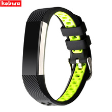 Kobwa Luxury Silicone bands High Quality Replacement Wearable Devices Silicon Strap Clasp For Fitbit Alta Smart Watch Bracelet(China)