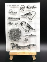 Bird Transparent Clear Silicone Stamp/Seal for DIY scrapbooking/photo album Decorative clear stamp sheetsH095(China)