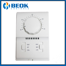TXM20 AC220V Room Thermostat, Fan Coil Thermostat Working with 3 Speed Fan, Air Damper Thermostat Setting Range 10-30 Celsius(China)