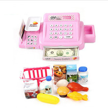 Children Simulation Cash Register Toy ABS Plastic Plaything Supermarket Cash Register Kids Gift Education Toy with Sound(China)