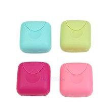 New Mini Soap Dish Case Holder Container Box Travel Outdoor Hiking CampingFreeshipping -Y103