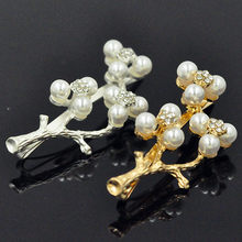 2017 Plum Pearls Hair Clips Lady Headwear Girls New Design Branches Hair Accessories Women Hairpins Alloy Elastic Barrette Hot