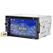 Car Radio 6.5 inch Double 2DIN Touch Car Stereo CD DVD Player Bluetooth USB SD AM FM TV dropshipping jul6(China)