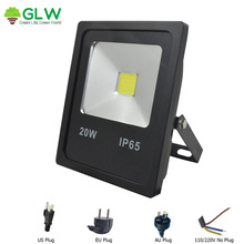 GLW LED Flood Light 50W 30W 20W 10W IP65 Waterproof 220V 110V LED Spotlight Outdoor Lighting LED Street Light Projector Driver