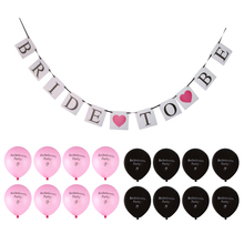 New Hot Sale 12x Bachelorette Wedding Balloons & Bride To Be Banner Bunting Hen Girl Night Out Party Favor Decor Supplies Gift(China)