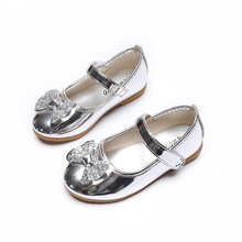 Summer Female Child Leather Sandals Girl Sweet Princess Shoes Baby Dance Shoes Toddler Baby Sandals Girls Top Quality Shoes(China)