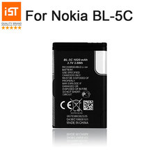 2017 New 100% IST BL-5C Original Mobile Phone Battery For Nokia BL 5C 1100 6600 6230 1108 1112 1200 n70 n91 Replacement Battery(China)
