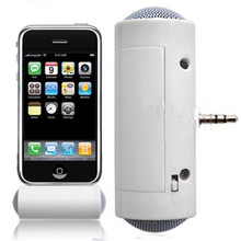Mini Type Speaker Portable White 3.5mm Stereo Speaker For iPhone 5 4 4S Samsung iPod MP3 MP4 Laptop with 3.5mm connector