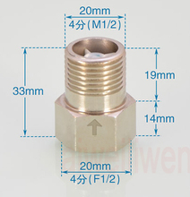 "1/2"" Toilet water tank check valve dn15 female to male thread Copper one-way non return valve solar water heater meter reflux(China)"