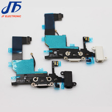 10pcs/lot New Charger Charging port Dock USB connector Data flex cable For iphone 5 5G ribbon replacement Parts