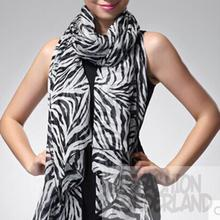 New Fashion 1pcs Women Girls Chiffon Soft Smooth Trendy Long Zebra Printed Scarf Hot Sale 2016