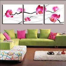 3 Panel Hot Sell Modern Wall Painting Home Decorative Art Picture Paint on Canvas Prints Pink charming alluring orchids