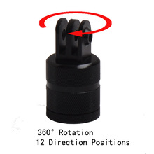 F15580 Aluminium 360 Degree Rotation 12 Direction Positions Camera CNC Connector Tripod Mount for GoPro Hero 2 3 3+ 4 SJ4000(China)