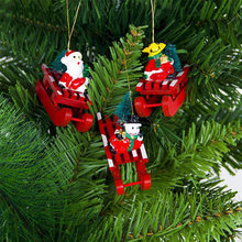 christmas tree decoration santa claus snowman deer xmas sled hanging ornaments christmas decorations for home new