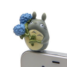 Different Shape Cute 3D Hayao Miyazaki Totoro Mobile Phone Earcap Earphone Stopper For Iphone Anti Jack Dust Plug Cover 3.5mm(China)