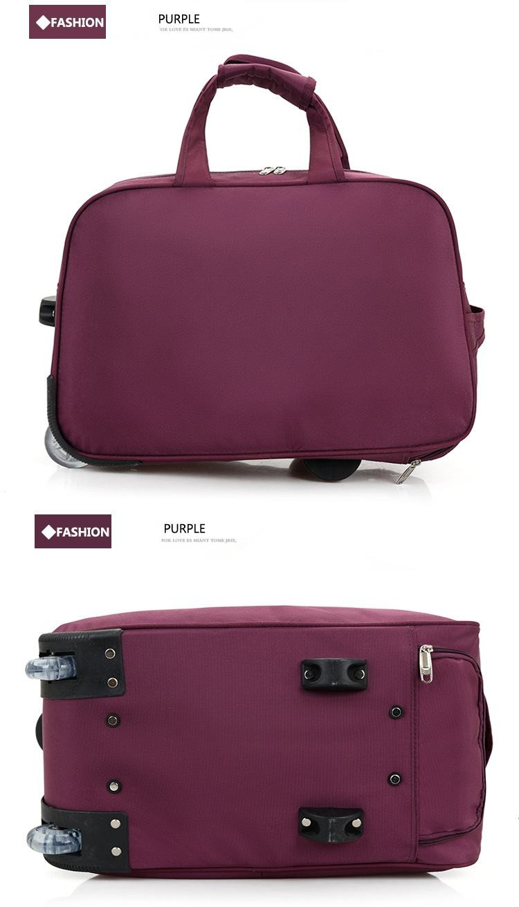 LHLYSGS Brand Women Fashion Cart Tug Case Wheels Travel Hand Luggage ... 412b362b1313e